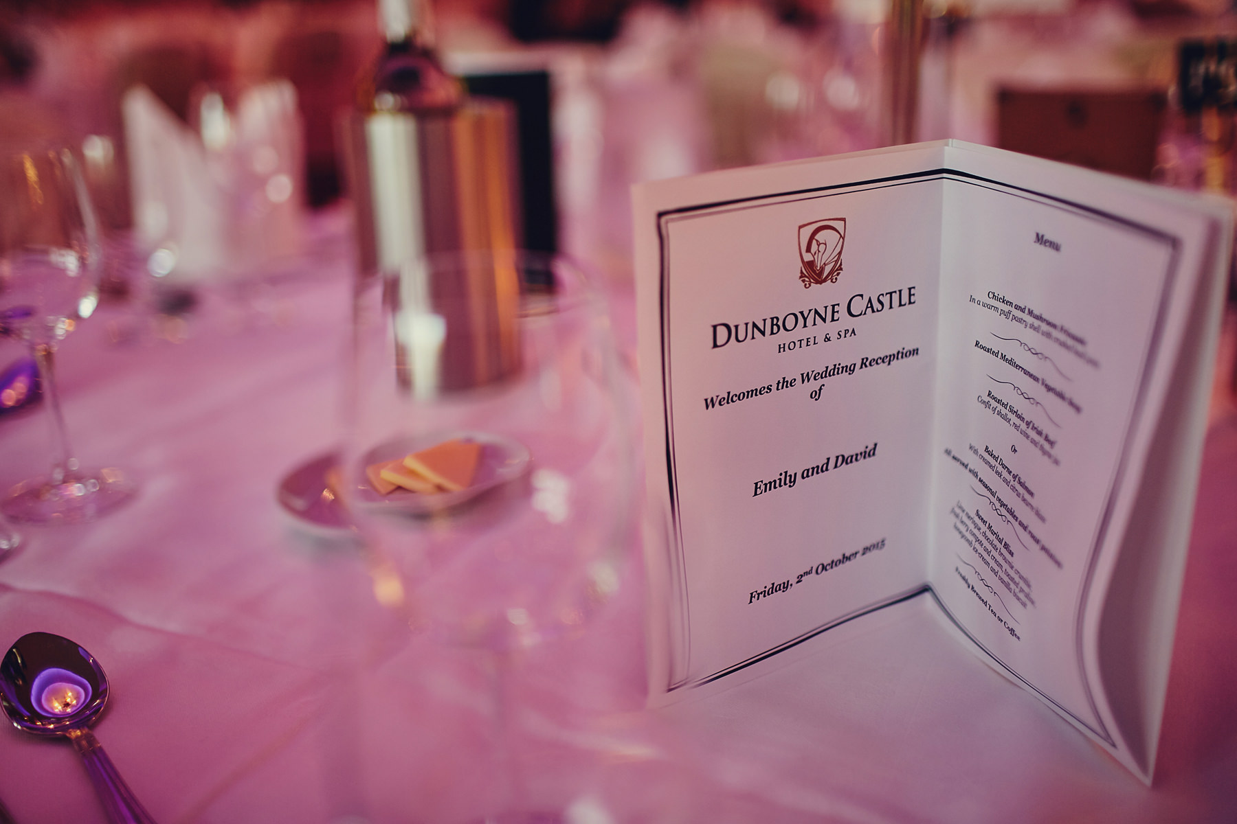 Dunboyne Castle wedding tables