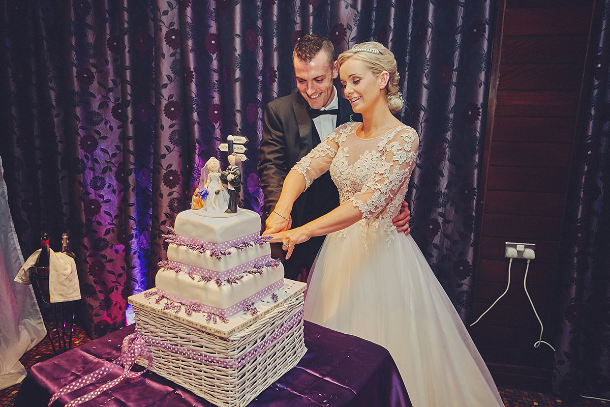 Cutting Cake westlodge hotel wedding