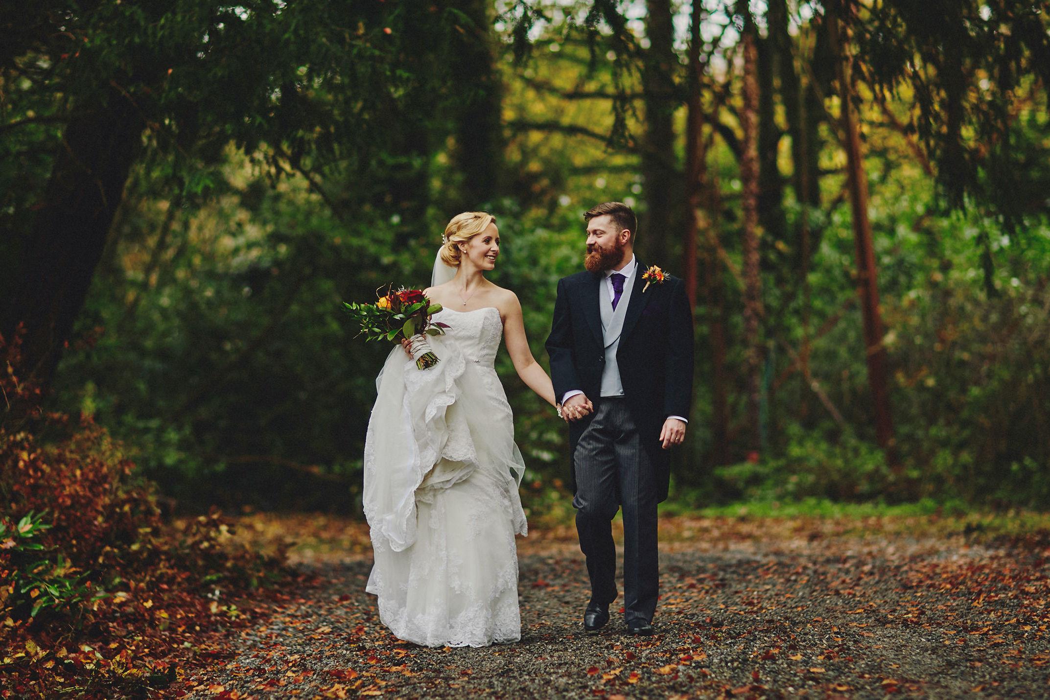 Lisnavagh House autumn wedding