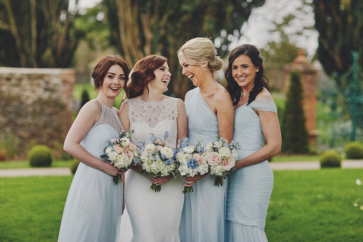 ireland wedding Bride and Bridesmaids
