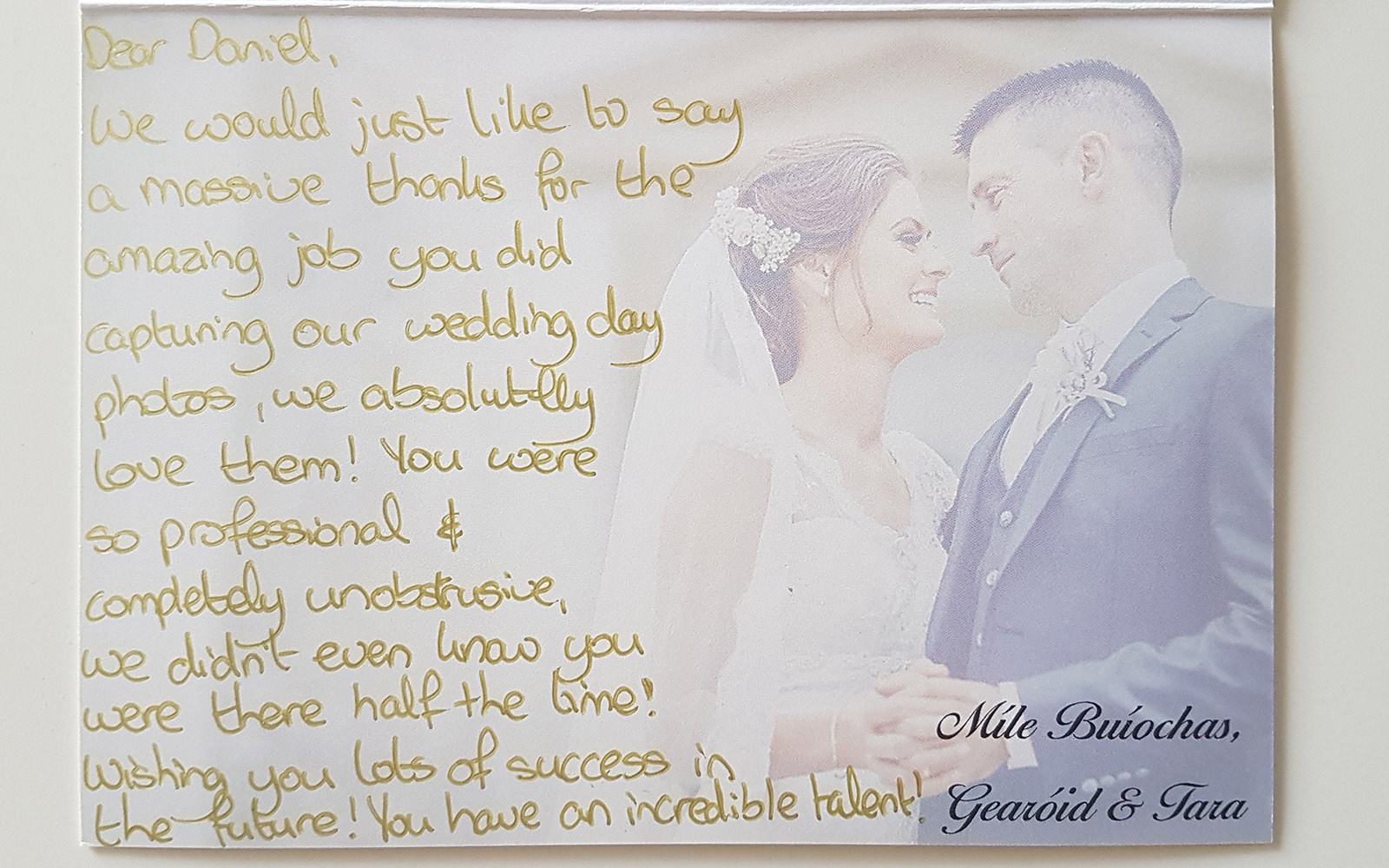 Testimonials wedding photgrapher