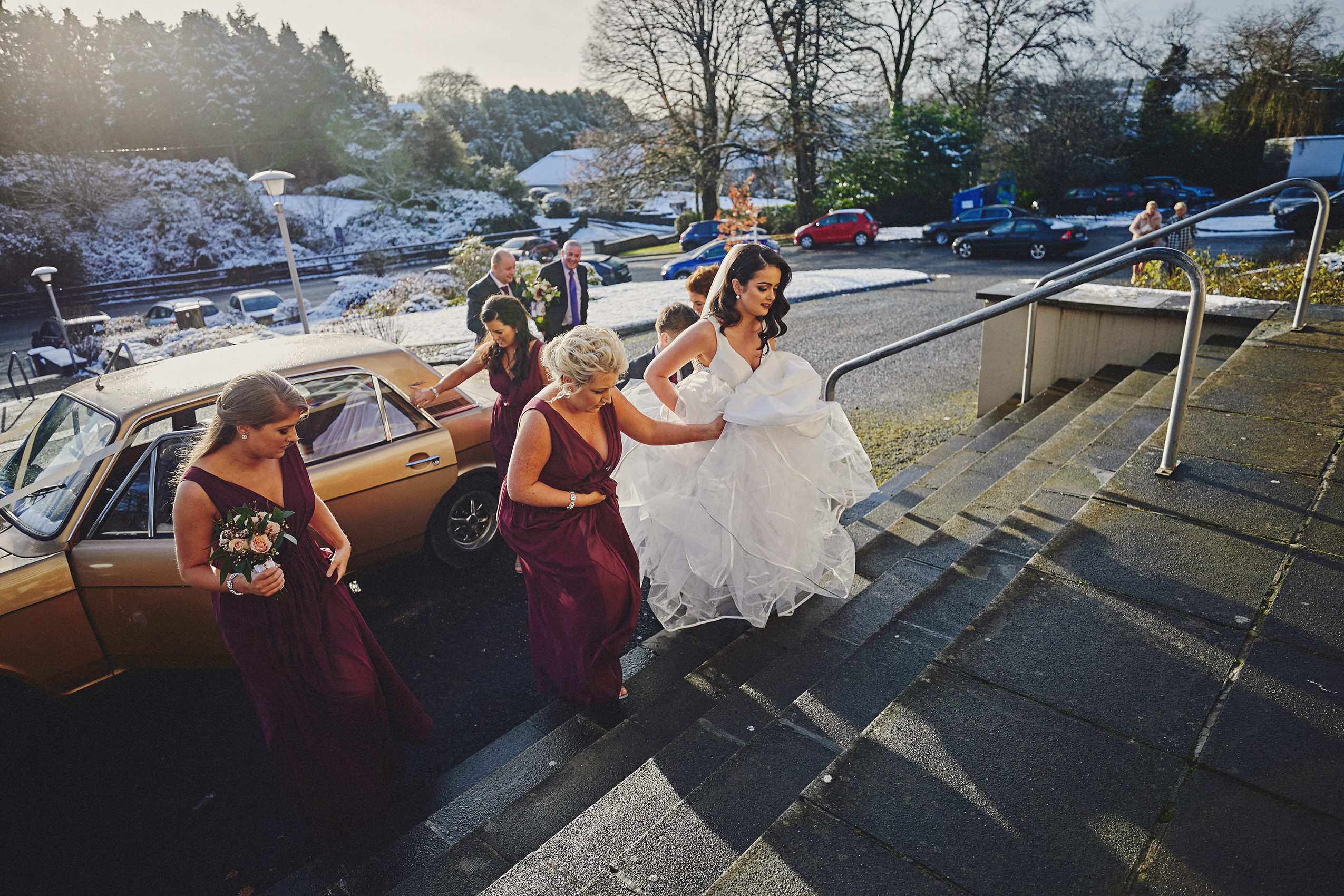 Irish winter wedding