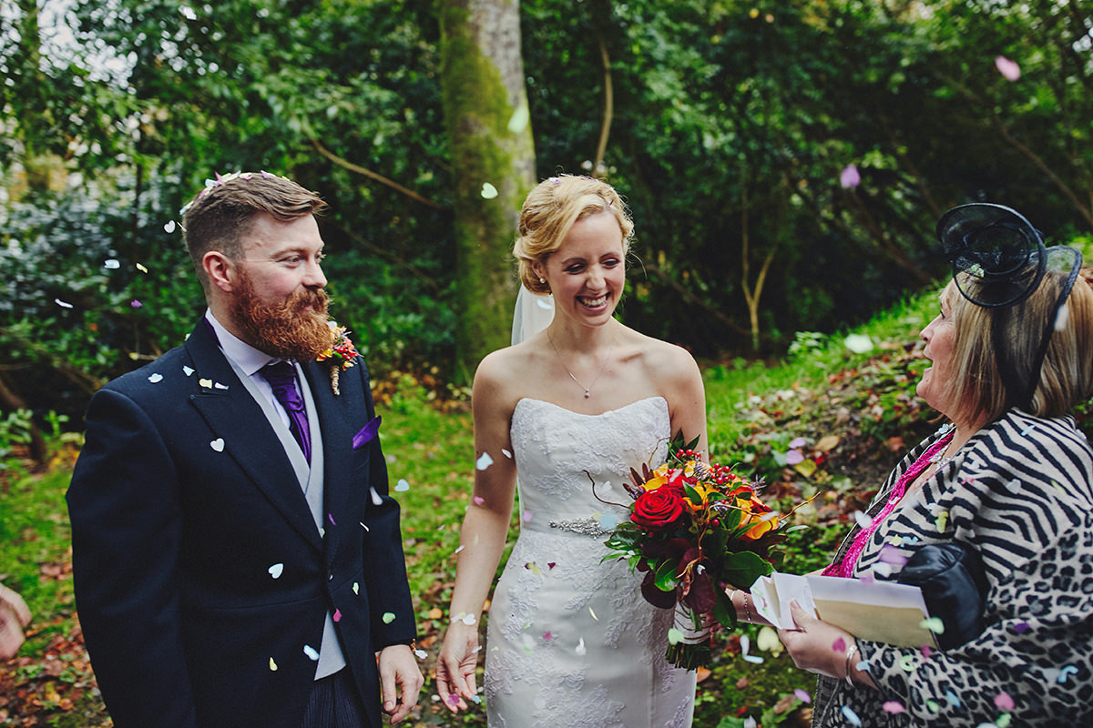 Lisnavagh House beautiful autumn wedding 73