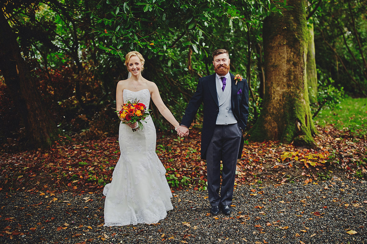 Lisnavagh House beautiful autumn wedding 74