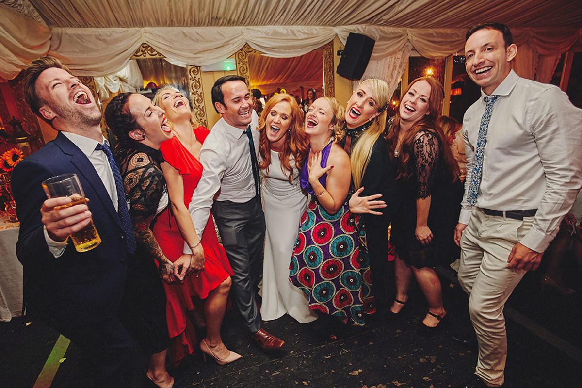 Photo with friends wedding