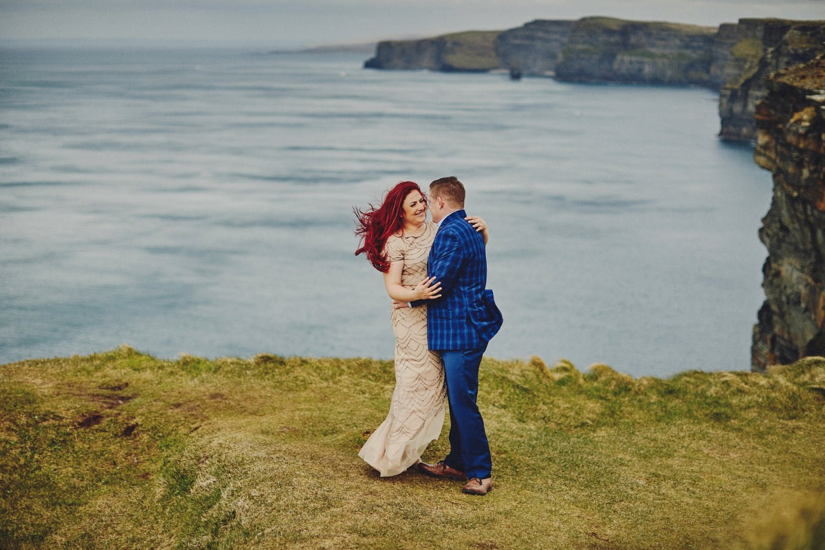 Cliffs of Moher engagement photos
