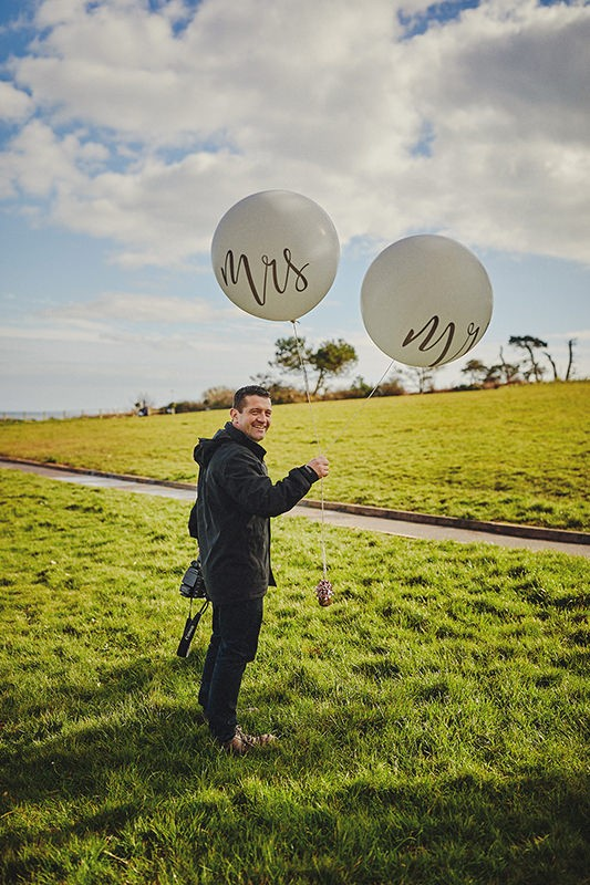 Wedding Videographer baloons