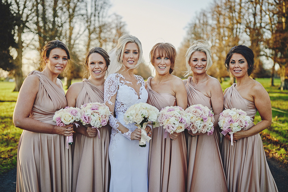 Gold And Black Dresses Bridesmaid