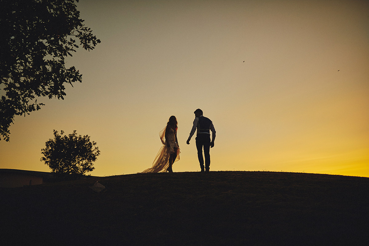 Sunset photo Wedding Ireland