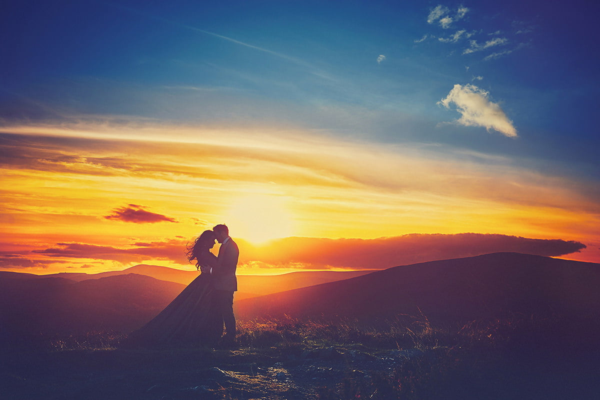 wedding sunset photo Ireland Photographer