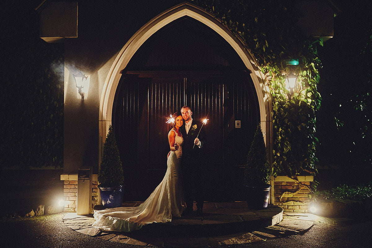 Sparklers wedding photographer Ireland