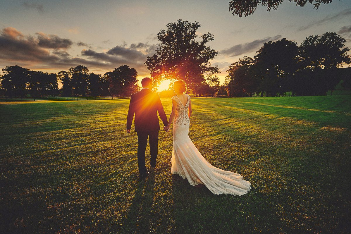 wedding sunset photo