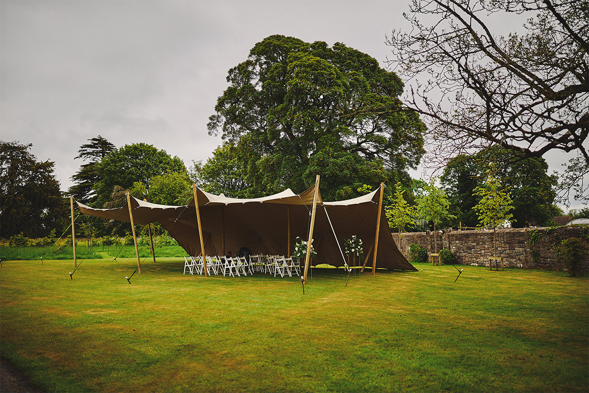 Outdoor Durhamstown Castle Wedding