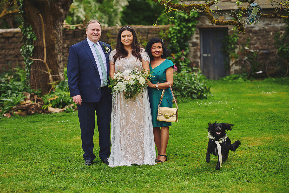 Dog Family photos wedding