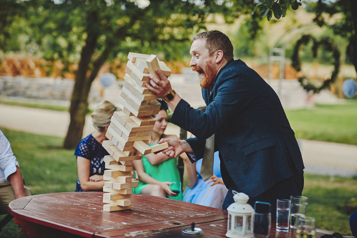 Giant Jenga Wedding reception