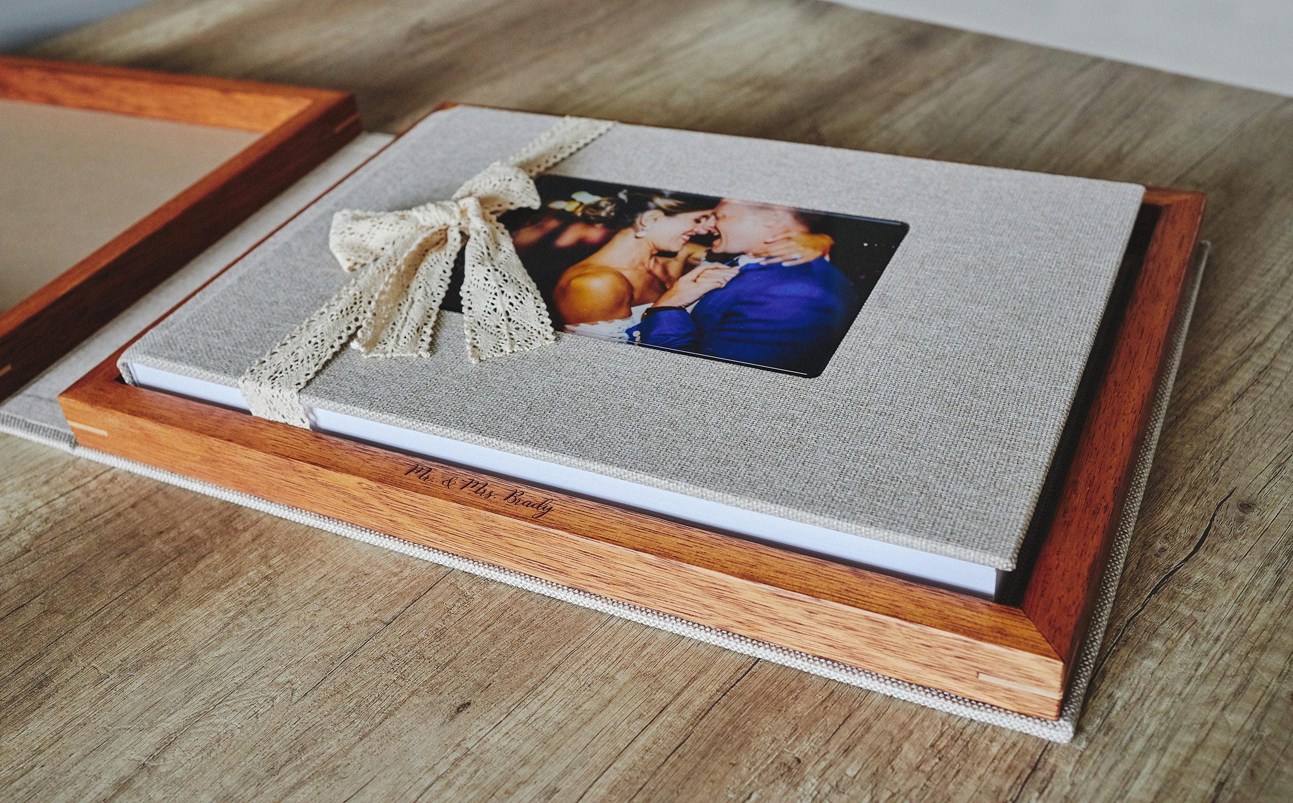 Wooden Box Wedding Album