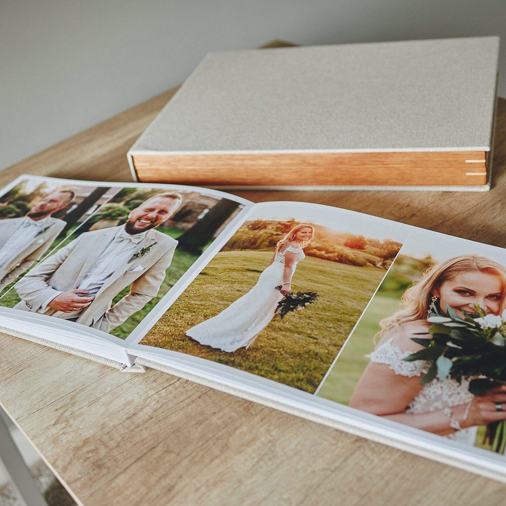 Most Popular Wedding Album + Wooden Box Bundle 1