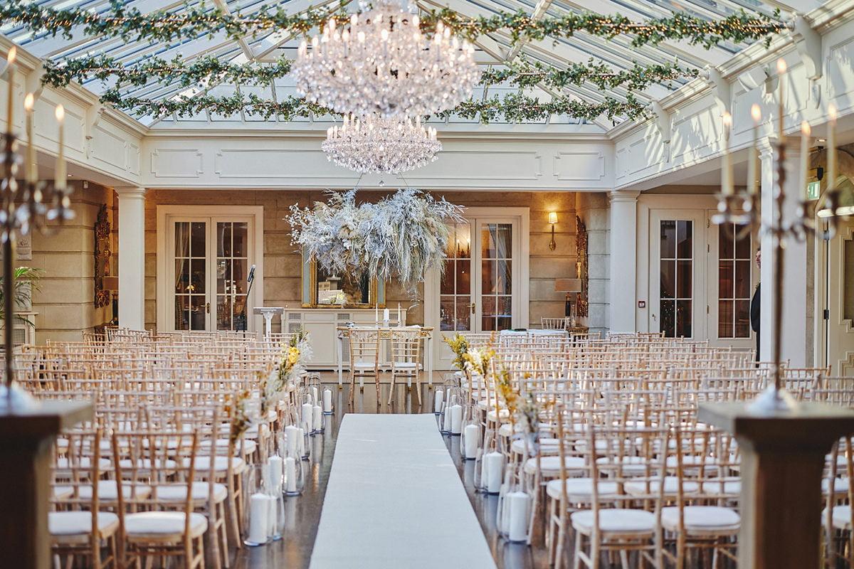 Wedding ceremony room Tankardstown House