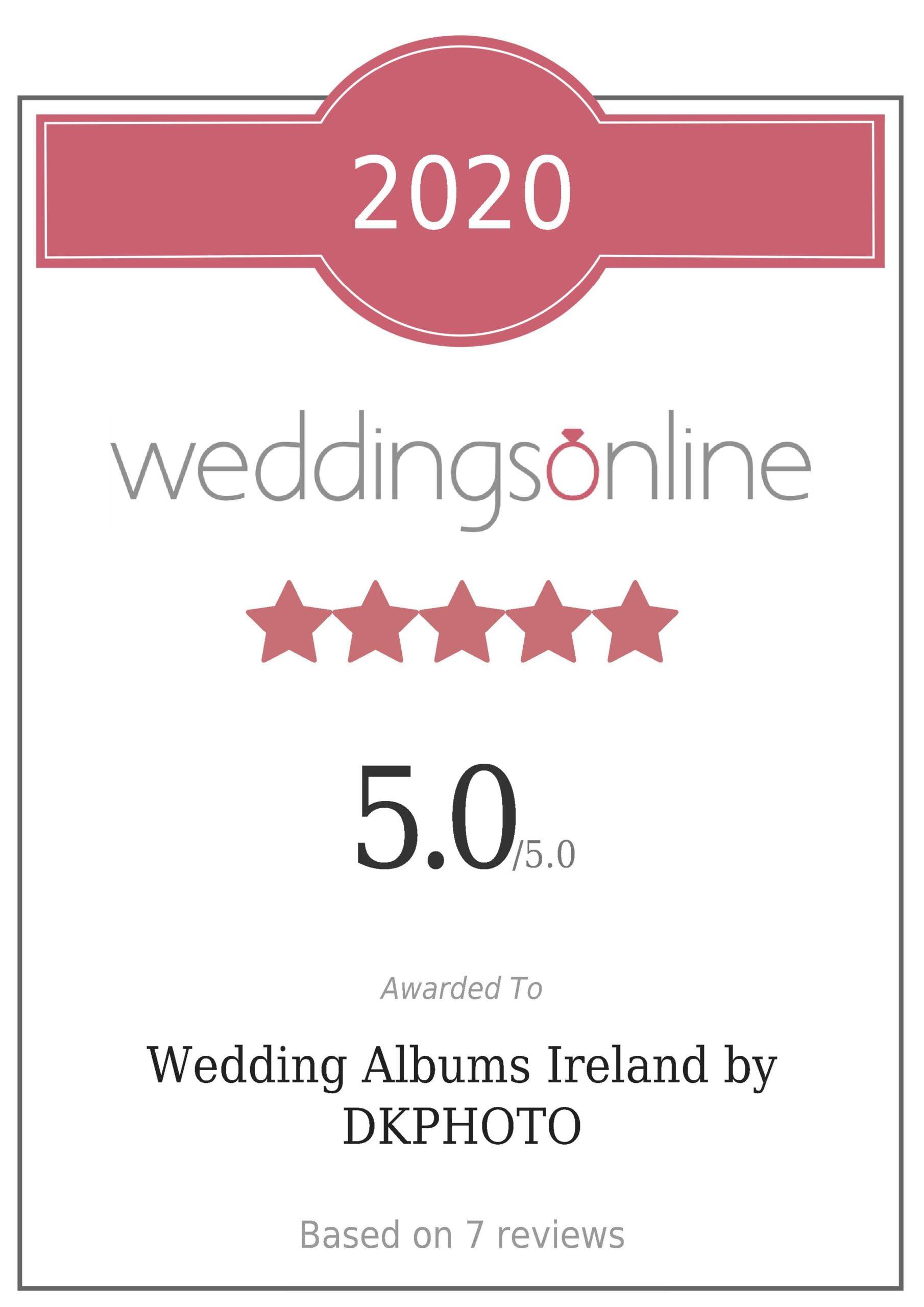 Wedding Album Quality Cerificate