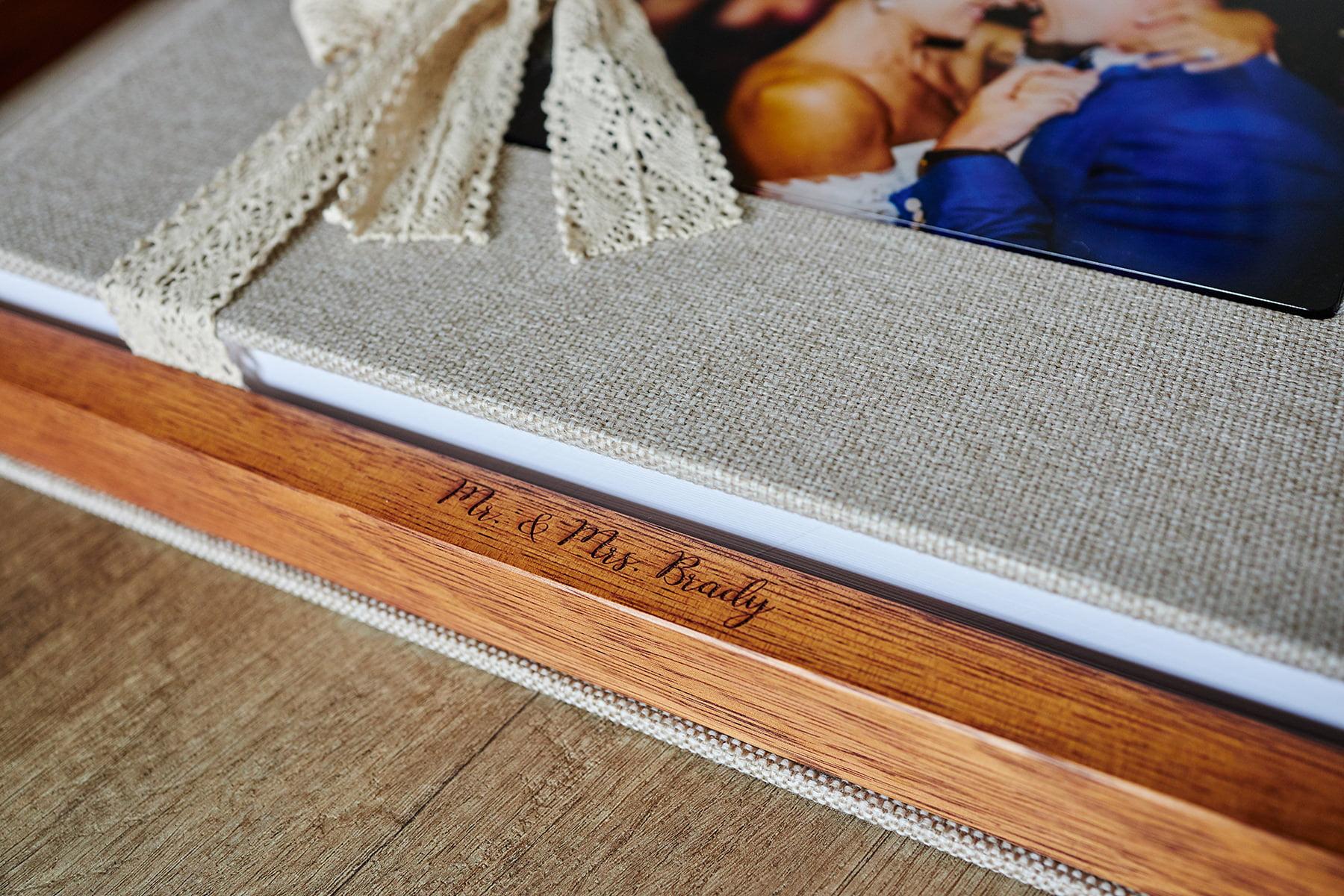 Wooden box for wedding album
