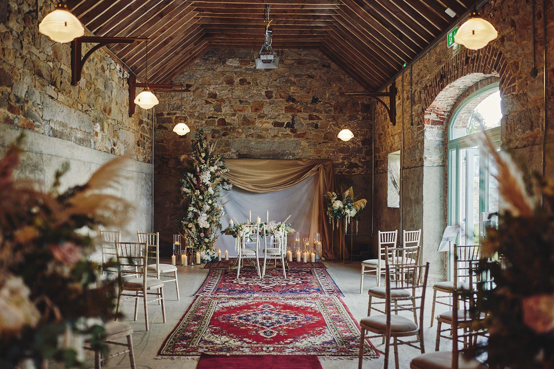 Wedding at Ballykealey House Barn 7
